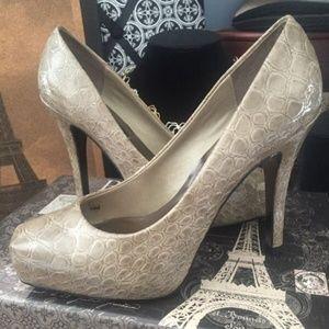 Reptile Patent square toe heels